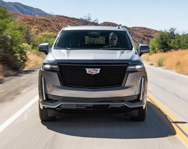 2021 Cadillac Escalade front grille view