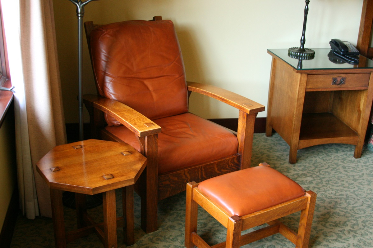 The Lodge at Torrey Pines leather chair